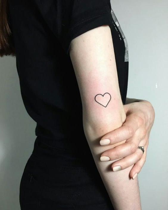 Black Outlined Heart Tattoojpg