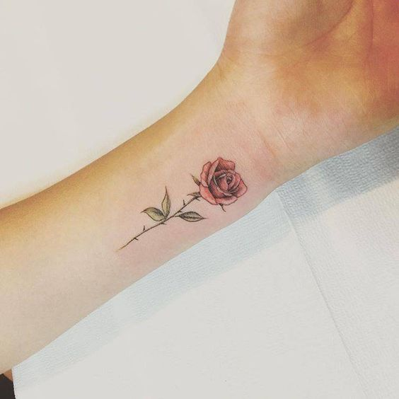 Tattoo Of Rose Small: Small Rose Tattoos: 30+ Beautiful Tiny Rose Tattoo Ideas