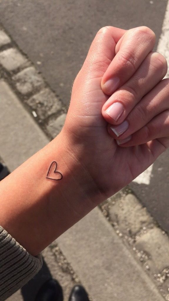 Small Heart Tattoo On The Wrist