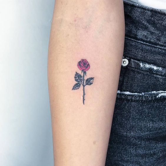 Flower Tattoos Designs Ideas And Meaning: Small Rose Tattoos: 30+ Beautiful Tiny Rose Tattoo Ideas