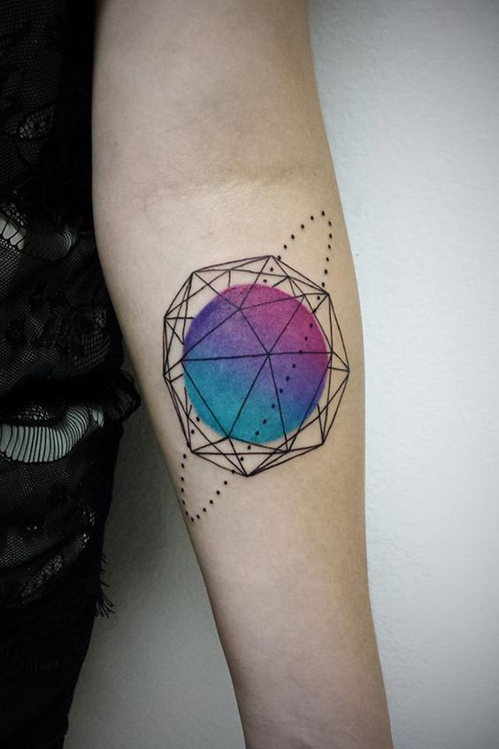 Abstract tattoo on the arm