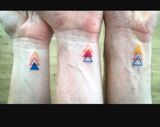 Brothers tattoo idea - triangles on wrists