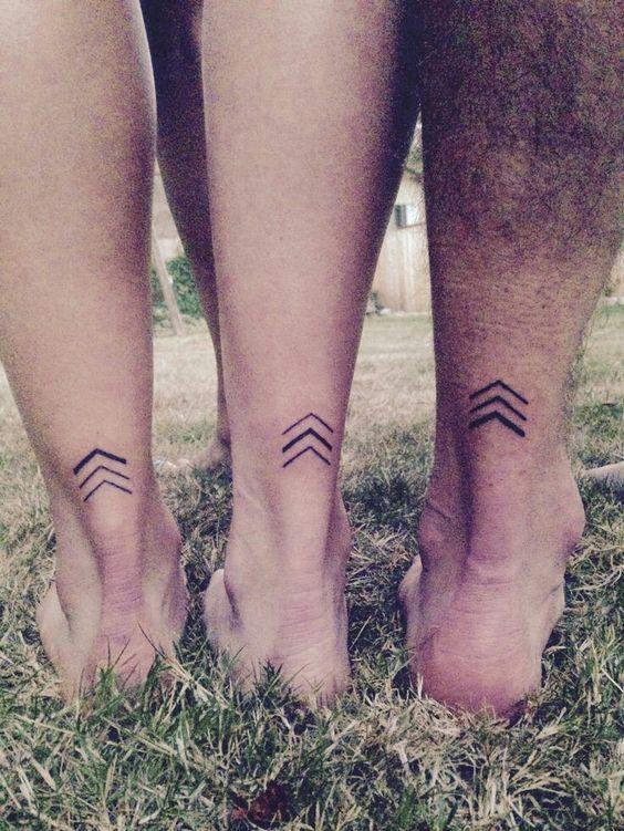 Chevron family tattoo idea