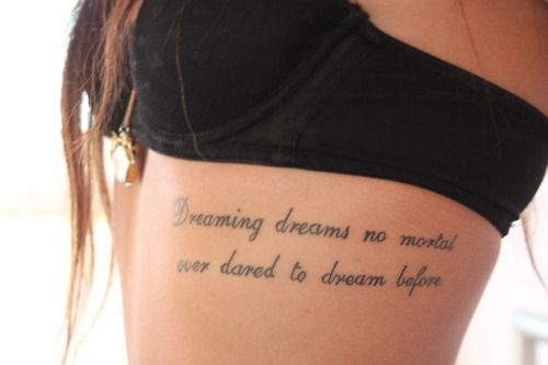 Dreaming dreams no mortal ever dared to dream before