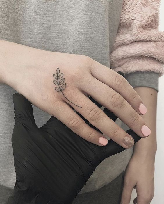 Handpoke tattoo