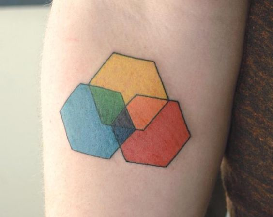 Hexagon LGBT tattoo idea
