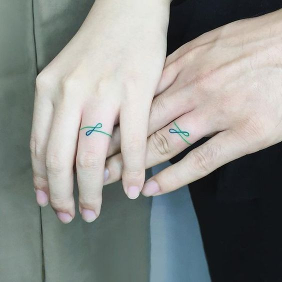 Infinity ring tattoo for a couple