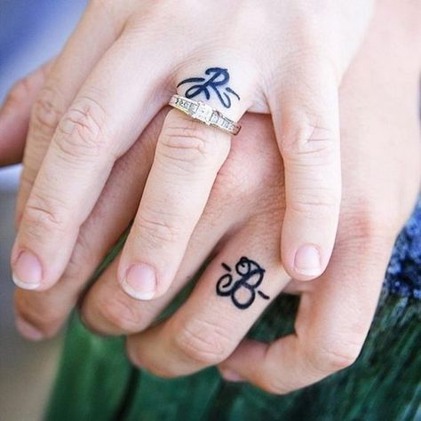 Initial Wedding Ring Tattoo