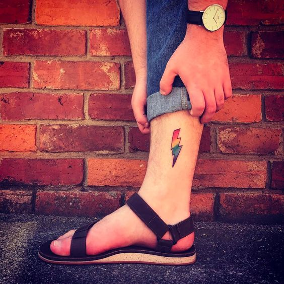Lightning symbol LGBT tattoo