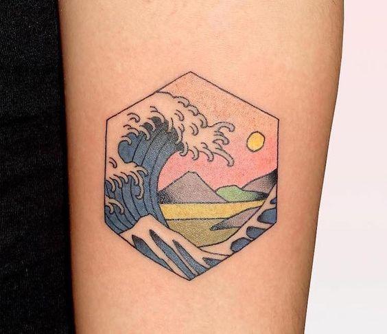 Minimal Japanese style tattoo