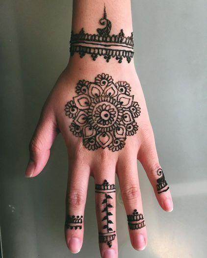 Stunning mandala henna tattoo
