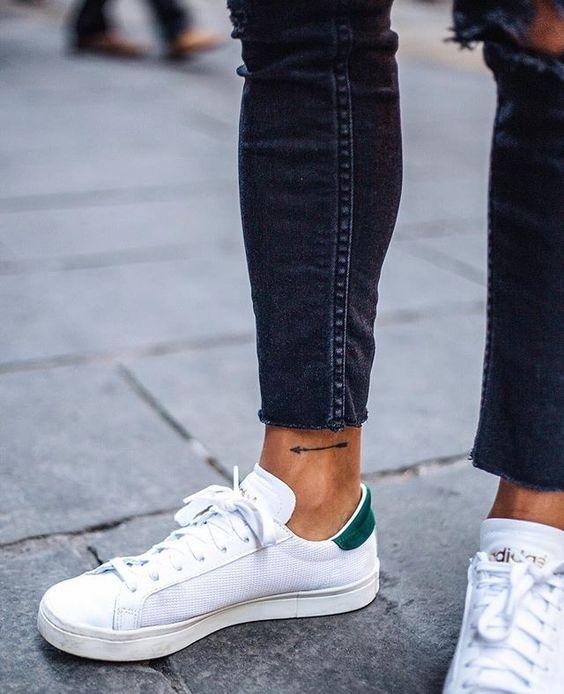 Tiny Arrow Tattoo On the Ankle