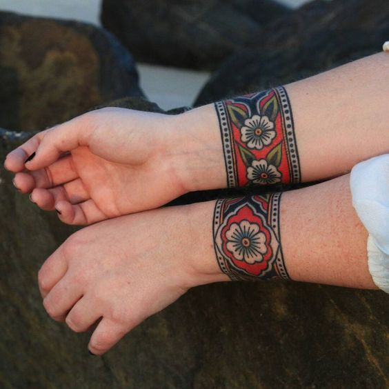 Traditional wristbands tattoo
