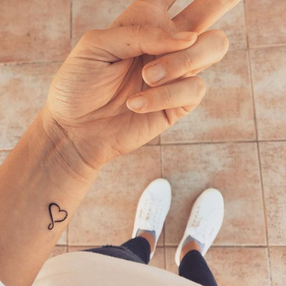 Infinity heart tattoo on the wrist