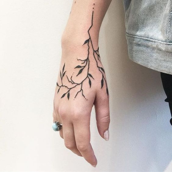 Minimalist tattoo on the hand