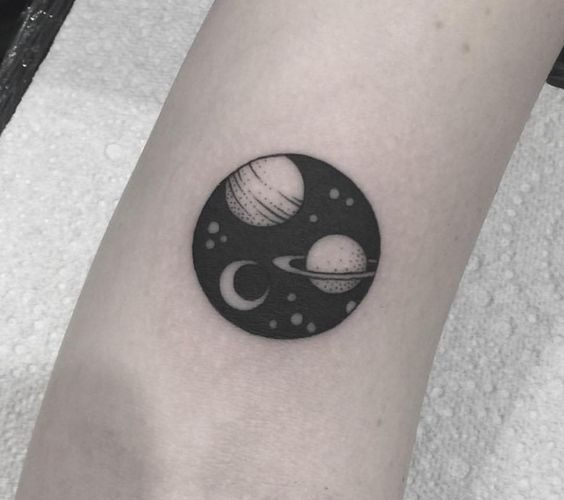 2a940439e1ac2 Simple Space Tattoos: 40+ Most Beautiful Cosmos Tattoo Ideas