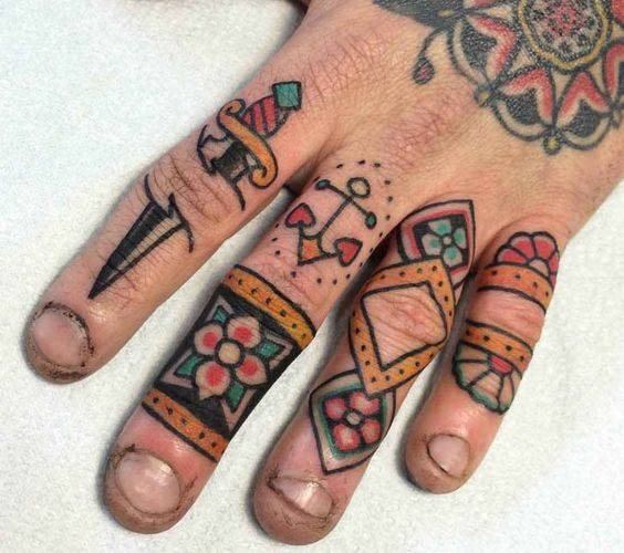 Small traditional tattoos