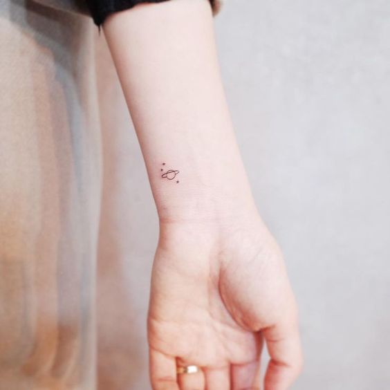 Simple Space Tattoos 40+ Most Beautiful Cosmos Tattoo Ideas