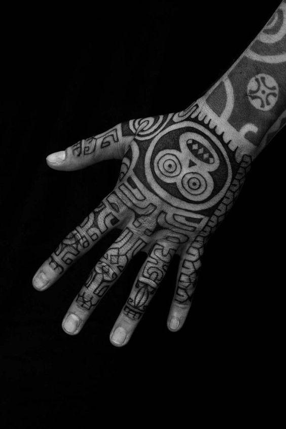 Tribal tattoo on the hand