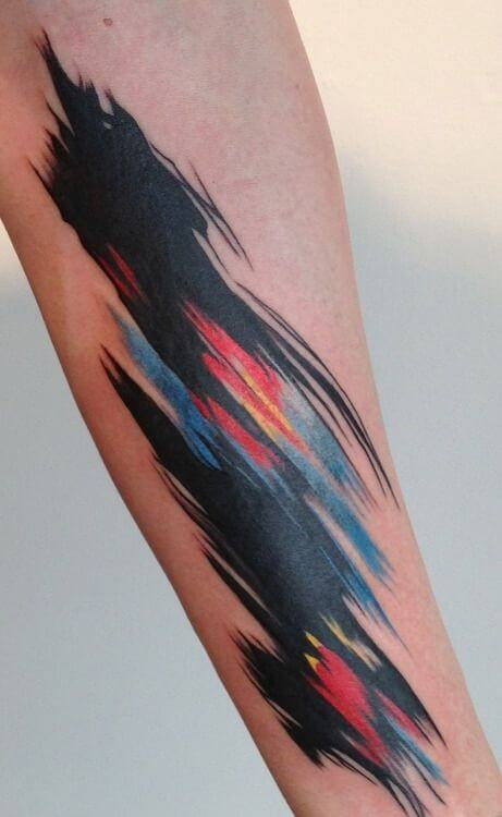 Dark abstract tattoo by Amanda Wachob