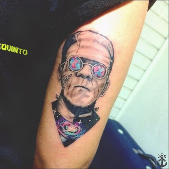 Frankenstein galaxy tattoo