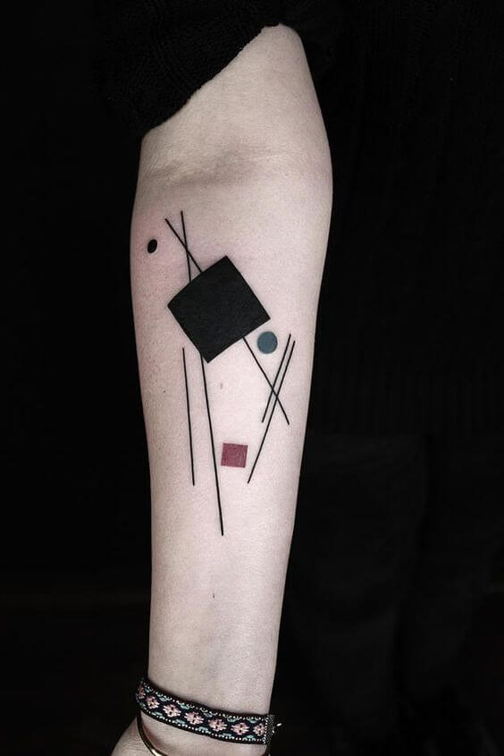 Minimalism style tattoo by Okan Uckun
