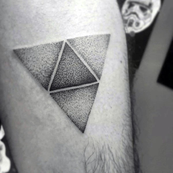 Another dotwork style black triforce