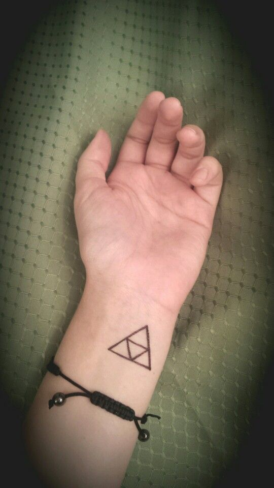 Another small triforce tattoo on the left inner wrist
