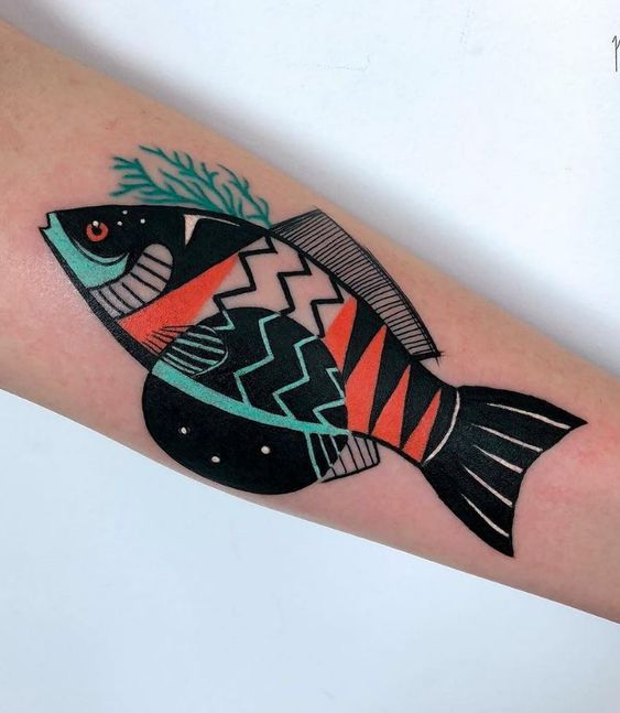 Cool fish tattoo design