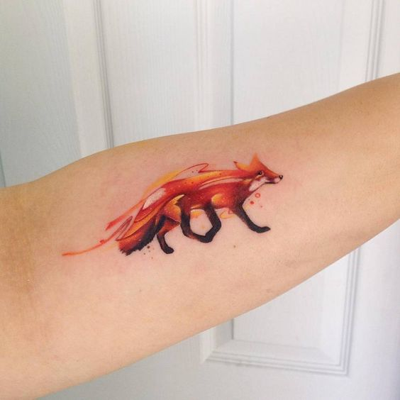 Firefox tattoo by adrian bascur