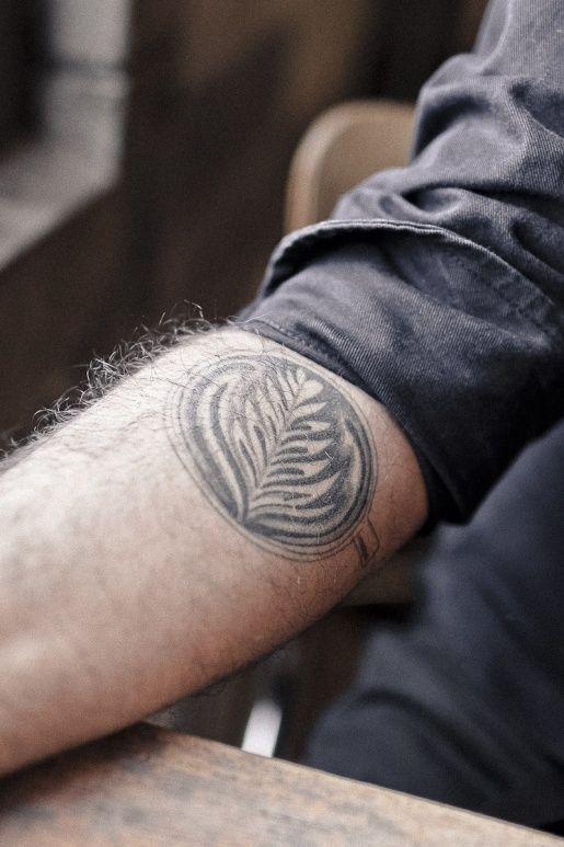 Latte leaf tattoo on the arm