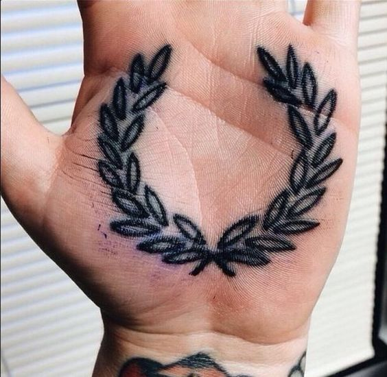 Laurel wreath palm tattoo