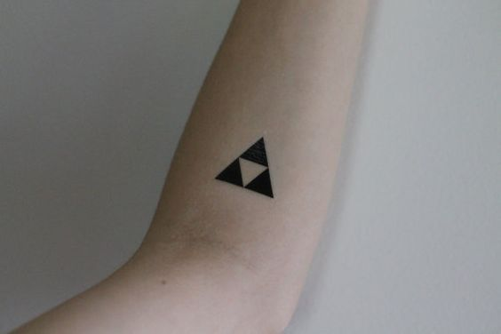 Little black triforce on the arm