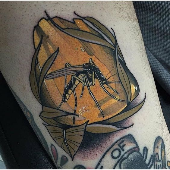 Mosquito neo traditional tattoo