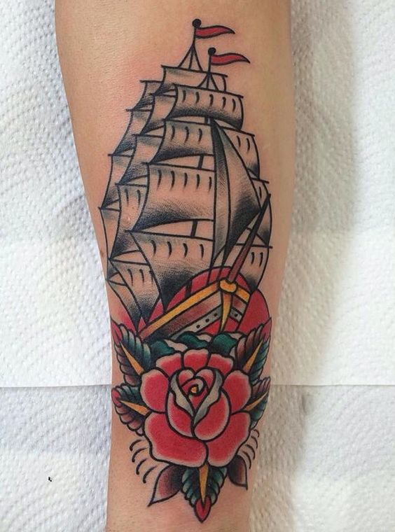 Ship Tattoo: These 40 Ship Tattoo Ideas Will Be The Best ...Old School Battleship Tattoos