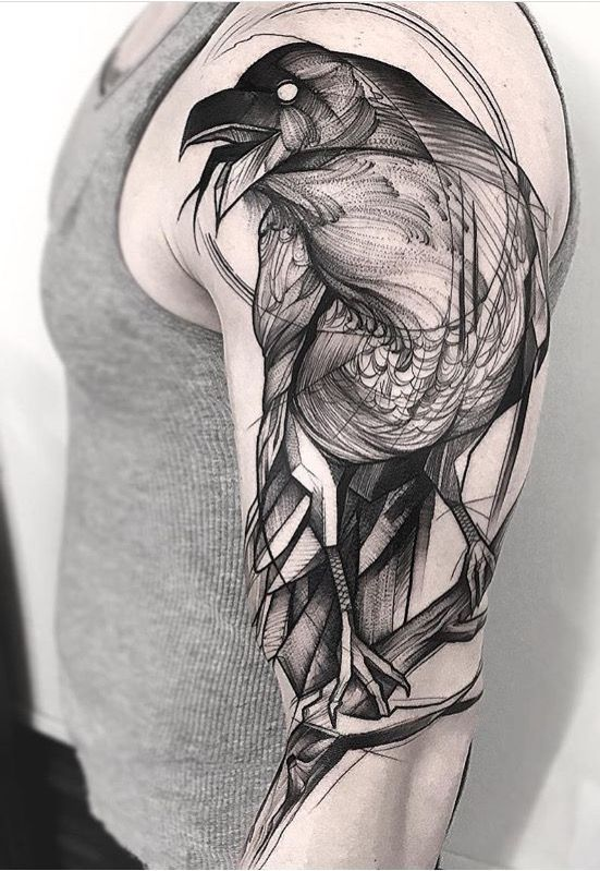 Raven tattoo by frank carrilho