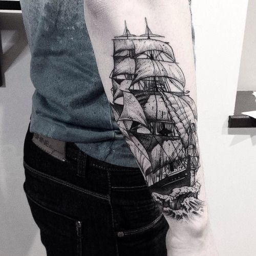 0f0cf8427 Ship Tattoo: These 40 Ship Tattoo Ideas Will Be The Best Ones You've ...