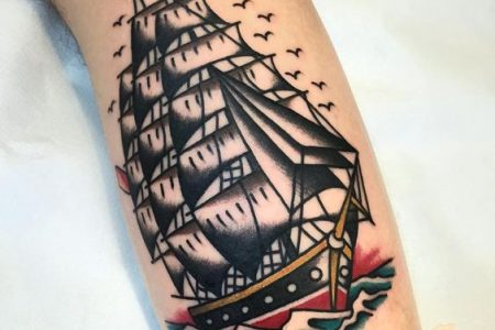 Ship Tattoo: These 40 Ship Tattoo Ideas Will Be The Best Ones You've Seen