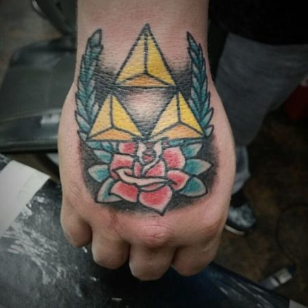 Triforce Tattoo: 34 Most Beautiful Ideas Of Triangle From 'Legend Of Zelda'