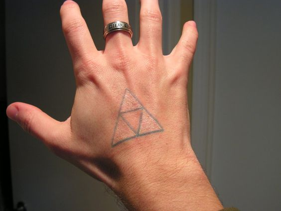 Triforce on the right hand
