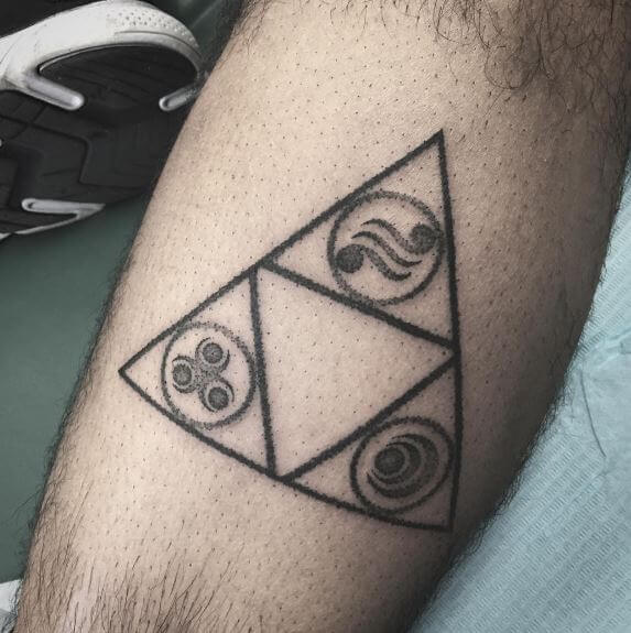 Triforce with symbols