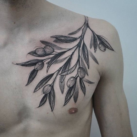 Olive Branch Tattoo Ideas For Peaceful And Tender People