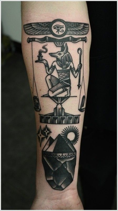 Awesome piece of anubis weighing the heart