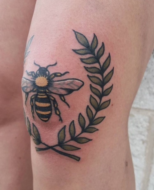 Bee knee tattoo
