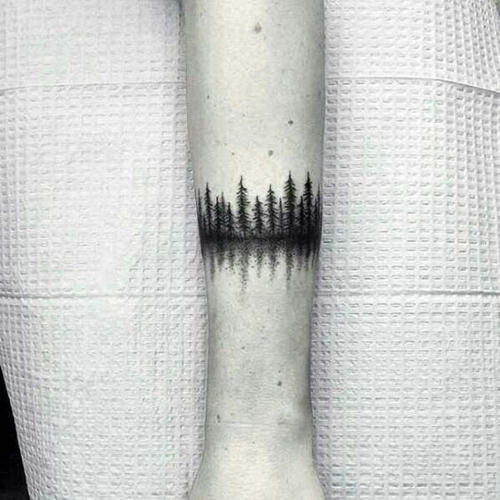 Black woods armband tattoo