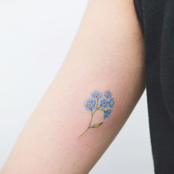Fantastic forget me not on the right inner arm