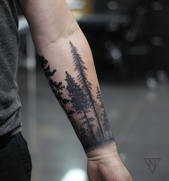 Forest armband tattoo