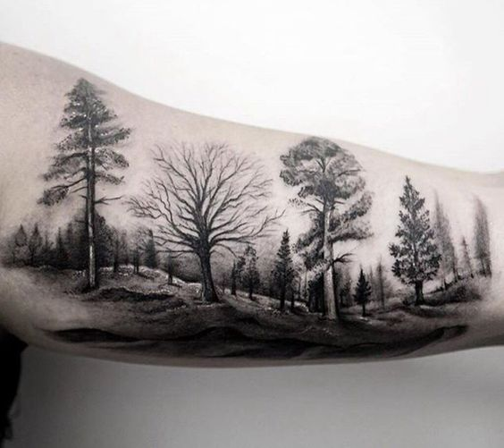Forest on the left bicep