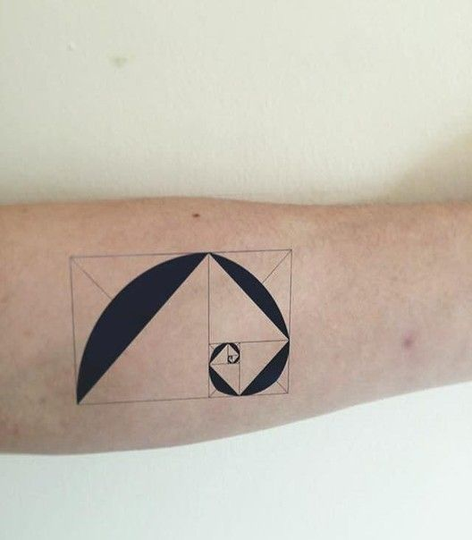 Golden ratio tattoo for the architects