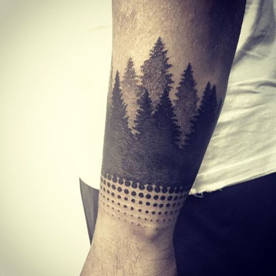 Gradient forest tattoo